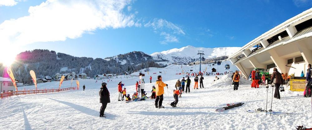 een impressie van wintersport in skigebiet Fiss