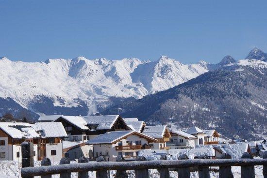 Foto van Ladis, Ladis is een goede wintersportplaats